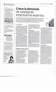 Imagen en el periódico La Razón